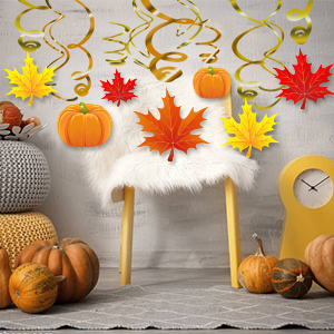 thanksgiving swirl hanging decor