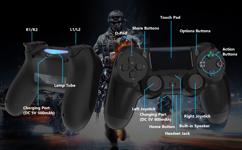 YCCSKY Wireless Controller for PS4
