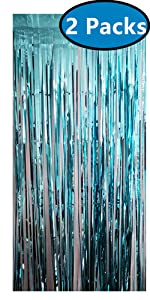 Gold Metallic Tinsel Foil Fringe Curtains for Party Photo Backdrop Curtain, Photo Booth Props