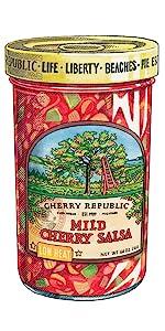 hot cherry salsa Spicy mild