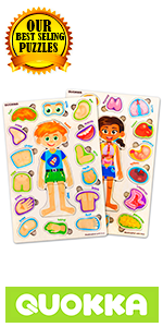 Wooden Wood Toddler Kids Puzzles Ages 3-5 Years 2 3 4 5 Old Toddlers Body Parts Our Boy Girl Jigsaw