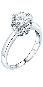 wedding ring band stones