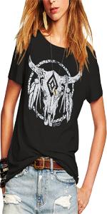Womens Fashion Cowgirl T-shirts