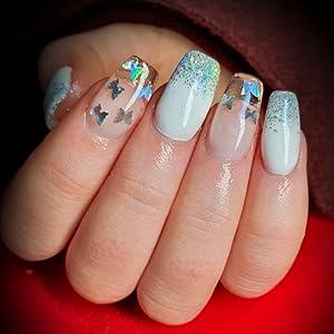 nail glitter butterfly,chunky nail glitter,nail art sequins,nail art flakes,nail glitter for polygel
