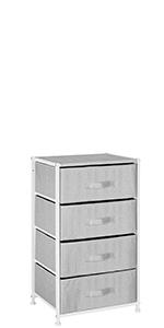 Vertical Furniture Storage Tower - Sturdy Easy Pull Fabric Organizer Hallway Entryway Closet