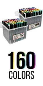 Master Markers Illustration Double End Chisel Brush Tip Markers