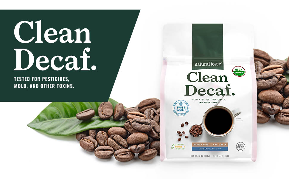 natural force clean decaf swiss water decaffeinated coffee is tested for toxins mold mycotoxins
