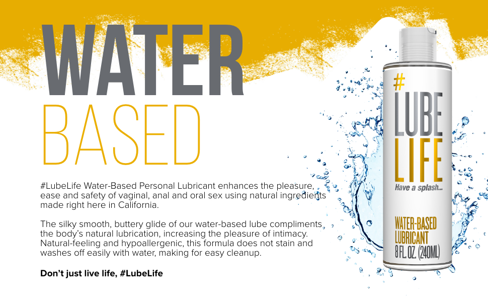 water based personal lubricant, persona lube, sex lube, anal sex, anal lube, condom compatible