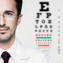 Ophthalmologist Tested eye chart test doctor