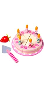Pretend play wooden cake