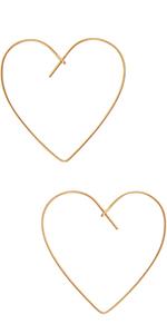 Humble Chic Upside Down Hoops - Hypoallergenic Lightweight Open Wire Needle Drop Dangle Earrings