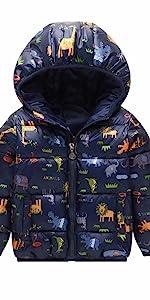 小孩恐龙棉衣