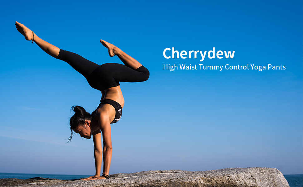 Cherrydew High Waist Tummy Control Yoga Pants