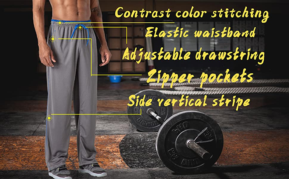 gym workout running jogger training pants men