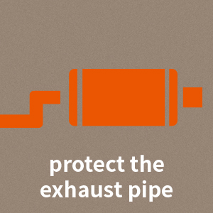 protect the exhaust pipe