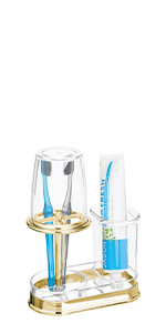 Countertop Toothbrush Holder Stand Bathroom Center