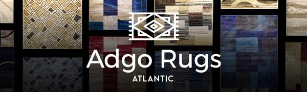 Adgo Atlantic Modern Contemporary Belgian Handcarved Blue Navy Brown Beige Red Burgundy Area Rugs
