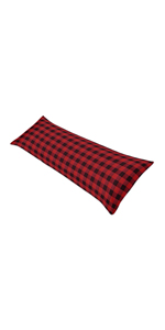 Woodland Buffalo Plaid Body Pillow Case Cover (Pillow Not Included)