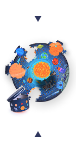 150Pcs Round Puzzle -Wandering Through the Space