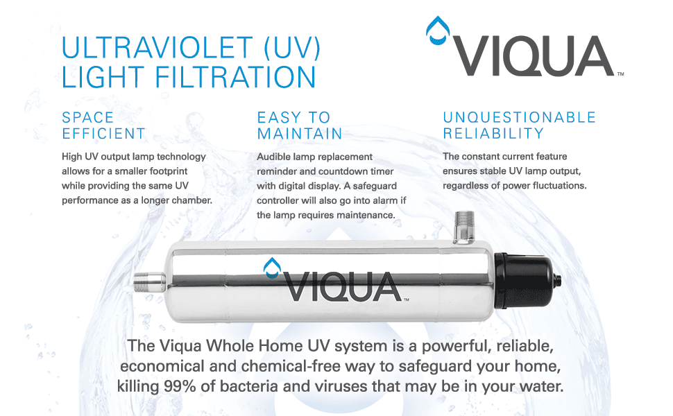 Viqua ultraviolet light filtration