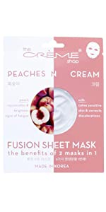 Peach and milk face sheet mask