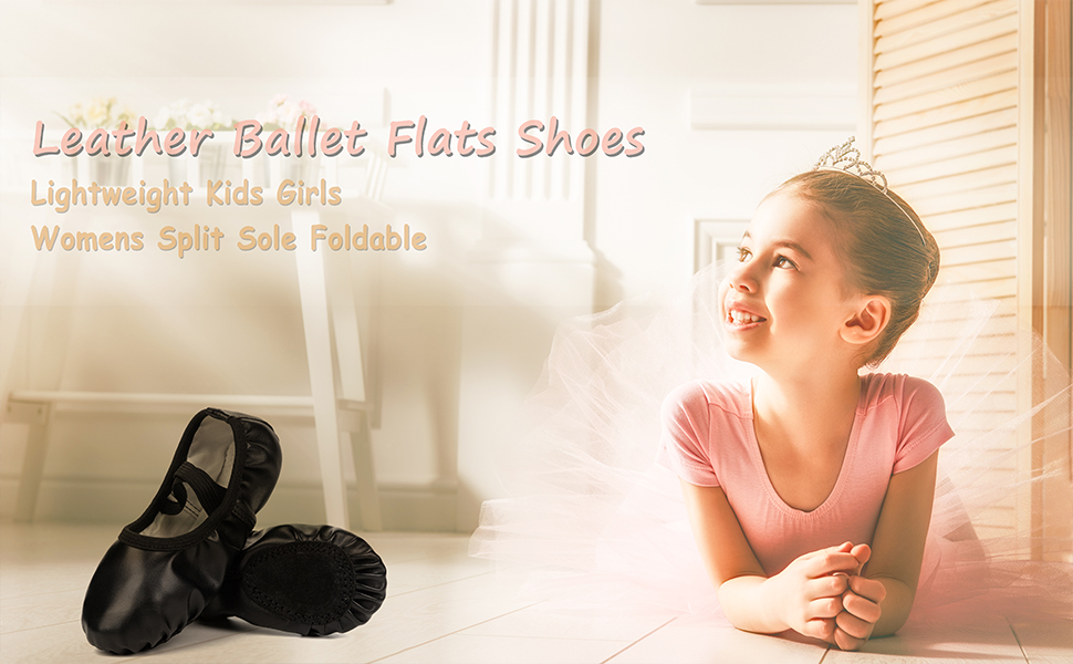 Athletic Ankle Strap Ballet Dance Flats Shoes for Girls Women