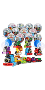 12 Pcs Prefilled Easter Eggs with Railway Engines