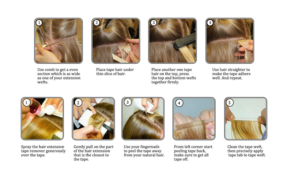 human hair tape in hair extensions glue on human hair extensions