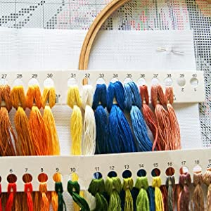 Just with this set, you can finish a pretty embroidery.