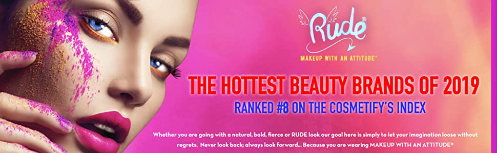 Rude Cosmetics Cosmetify Index Makeup Eyeshadow Palette Glitter Matte