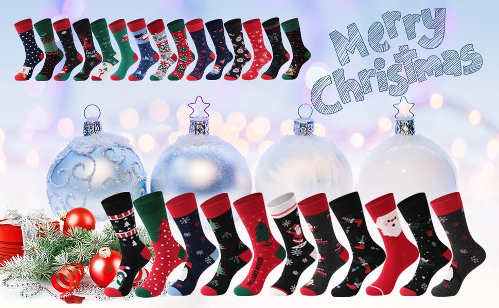 christmas socks gift kids unisex novelty fun socks family womens mens kids holiday socks dress socks