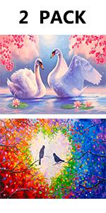 diamond painting bird love