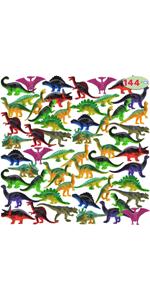 144 Pcs Mini Dinosaur Toy Set