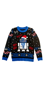 Star Wars R2D2 Ugly Christmas Sweater Boys Girls Holiday Kids sweater droid
