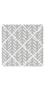 Grey and White Boho Herringbone Arrow Fabric Memory Memo Photo Bulletin Board