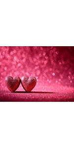 Glitter Love Hearts Photography Backdrop Valentine's Day Party Photo Backdrop