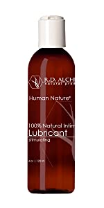 100% Natural, Organic Stimulating lube RD alchemy natural products. Human Nature lubricant.
