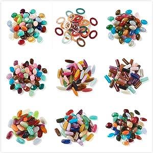 Round Imitation Gemstone Acrylic Beads Assortment Lot for Jewelry Making
