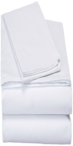 matching solid white fitted and flat bed sheets set with pillow cases modern soft 100% cotton gift