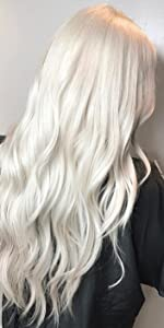 white blonde hair extensions