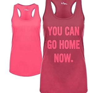 Sweat Activated Tank Top Pink, Motivational Message Hidden Message