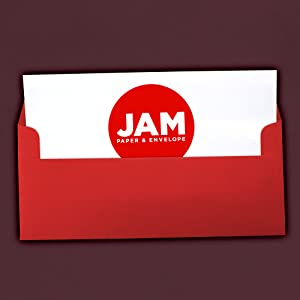 red #10 business colored envelope