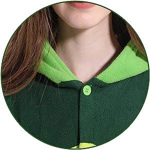 button design Details of pea costume adult pea onesie pea pajamas