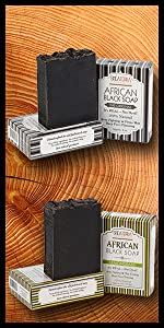 African Black Soap Bar Collection