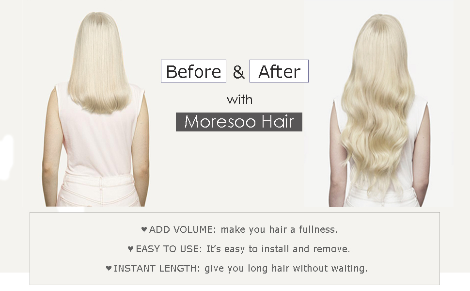 moresoo tape in human hair extensions
