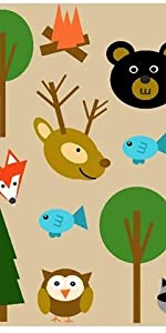 Woodland Animals, Forest Animals, Fox Baby, Baby Bear, Camping Baby, Fishing Baby, National Parks