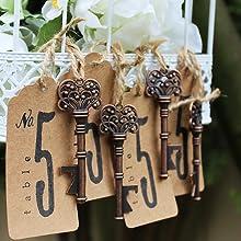 functional wedding favor skeleton key bottle opener