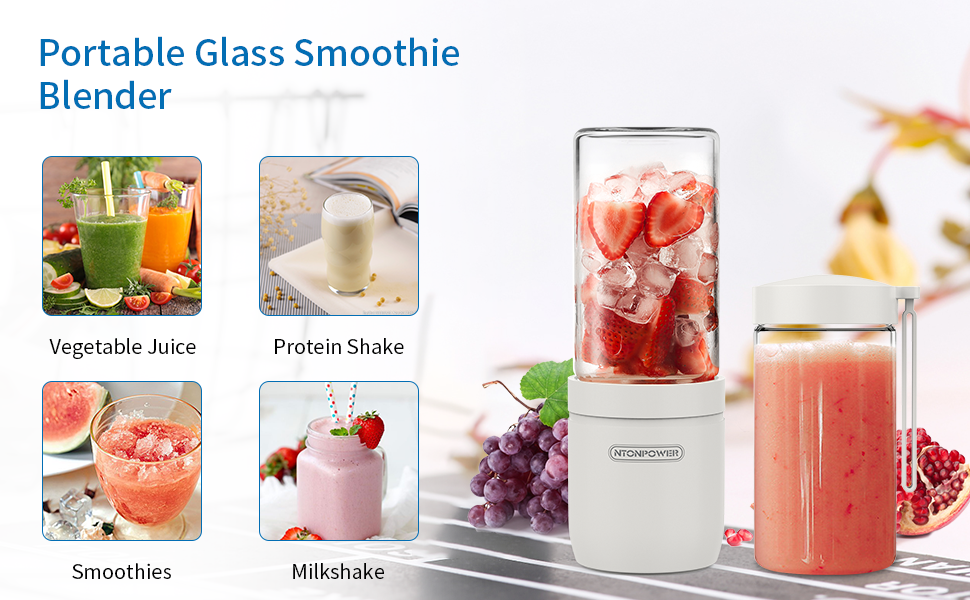 Six Blades for Home,Travel,Sports,Gym Portable Blender Pink Personal Size Juicer Cup Fruit Shakes Smoothie Mixer with 2600mAh Rechargeable Battery