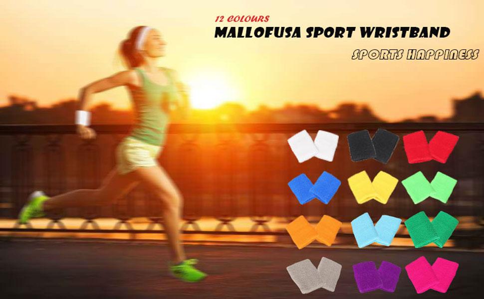 Mallofusa Sports Sweatbands