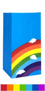 Rainbow paper bags
